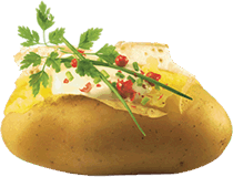 Potato footer image